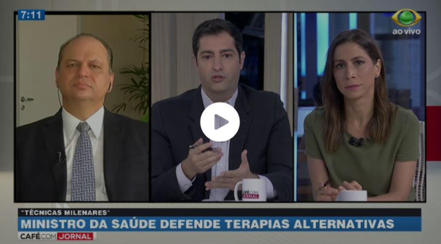 Programa Café com Jornal da TV Band questiona Ministro da Saúde